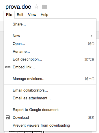 gDocs - Export to Google documents